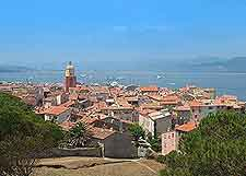 Picture showing the coastal view of St. Tropez