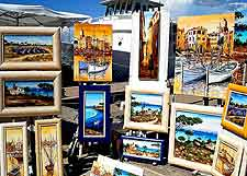 Another photo of St. Tropez quayfront art works