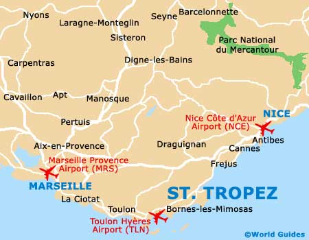 Saint Tropez map