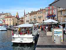 Photo of St. Tropez quayfront in the summer