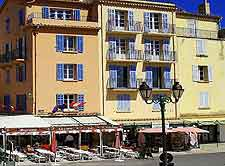 Image of St. Tropez street and stores