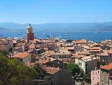 Aerial view of St. Tropez resort