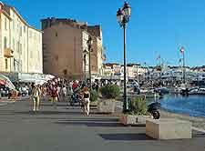 Photo of St. Tropez waterfront promenade