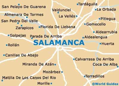 Small Salamanca Map