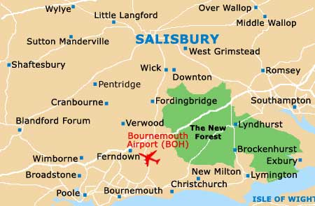 Salisbury area map