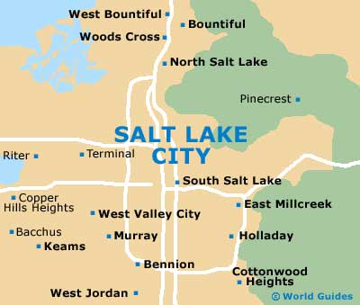 Salt Lake City Maps And Orientation Salt Lake City Utah UT USA - Map usa utah