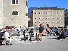 Picture of central chess board