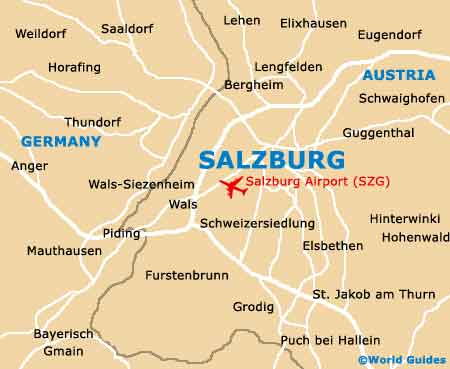 Map Of Salzburg Airport W A Mozart SZG Orientation And Maps - Germany map salzburg