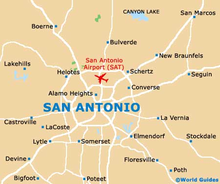 Small San Antonio Map