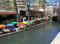 Photo of riverside dining in San Antonio