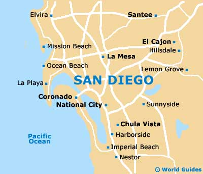 Map Of San Diego Airport San Orientation And Maps For