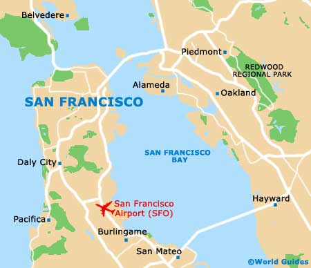 Map of San Francisco Airport (SFO): Orientation and Maps for SFO San ...