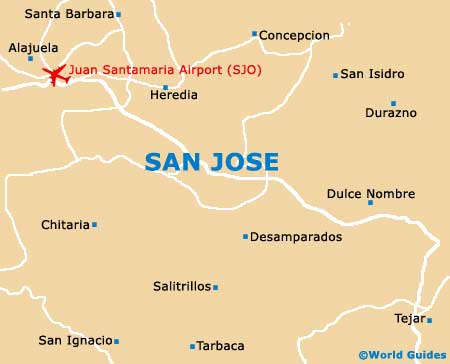 San Jose Maps and Orientation: San Jose, Costa Rica