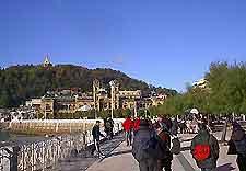 Scene of life in San Sebastian