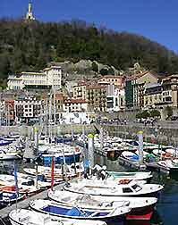 Photograph showing San Sebastian's harbour