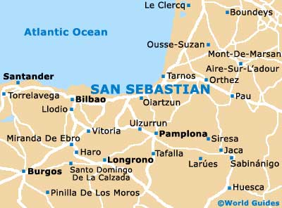 Map Of San Sebastian