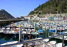 Marina view around San Sebastian Port (El Puerto)