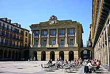 Photo of the Plaza de la Constitucion in San Sebastian