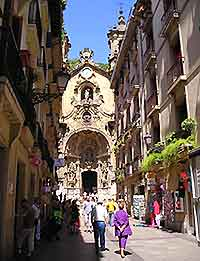 Shopping streets of San Sebastian picture