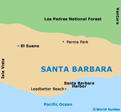 Small Santa Barbara Map