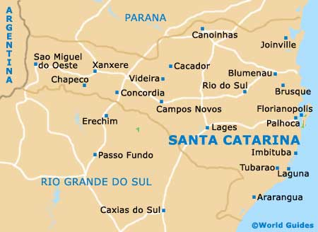 Santa Catarina map