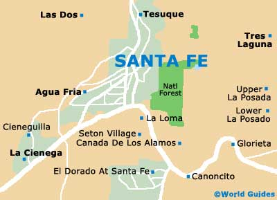 Santa Fe Maps and Orientation Santa Fe New Mexico NM USA