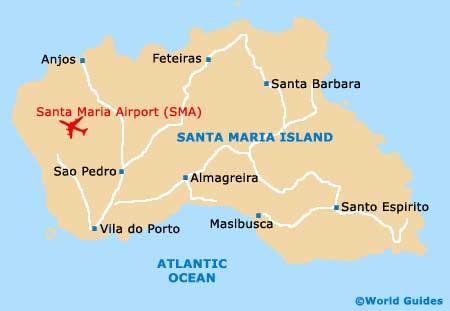 Map Of Santa Maria Airport Sma Orientation And Maps For Sma Santa