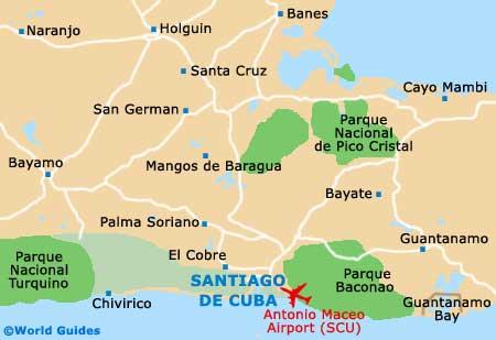 Small Santiago de Cuba Map