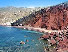 Red Beach photograph, showing the distinctive cliff faces