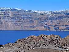 Distant image of the Caldera lake
