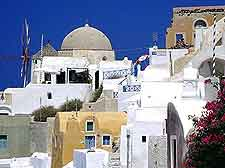 Photo of distinctive white architecture in Oia