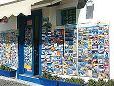 Picture of island gift shop selling postcards and souvenirs