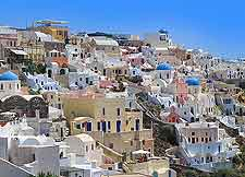Further image of the Greek architecture in Oia