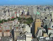 Photo showing an aerial view of Sao Paulo