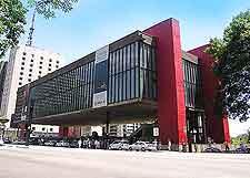 Photograph showing the eye-catching Museu de Arte (Museum of Art)