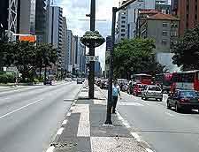 Different view of the Avenida Paulista
