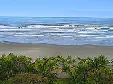 Scenic image of the Bertioga shoreline