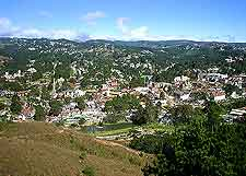 Campos do Jordao view from high above the city