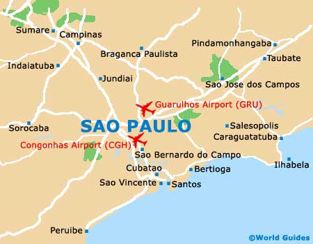 Map of Congonhas Sao Paulo Airport (CGH): Orientation and ...