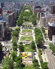 View of Sapporo central park