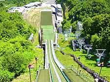 Photo looking down the ski jump