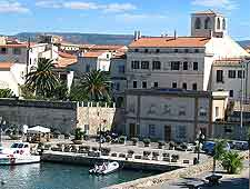 Photograph showing the Sardinian town of Alghero