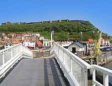 Image of bridge leading to the harbour
