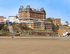 Photo showing the Grand Hotel overlooking the beachfront