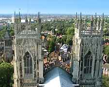 Picture taken from the top of the York Minster