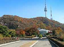 Skyline picture, showing the N Seoul Tower in the distance