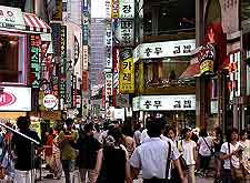 Image showing crowds of shoppers in the heart of the city
