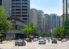Different view of the modern city centre