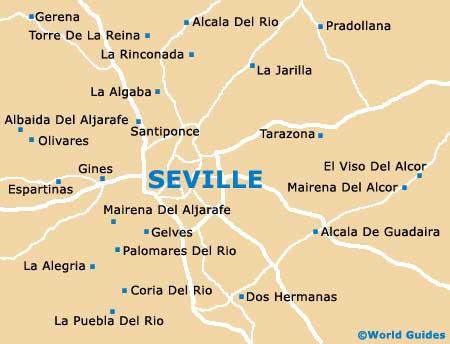 Map Of Spain Seville.Maps Of Seville University Of Seville Map Of Seville