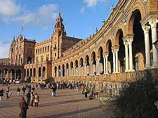 Picture showing Plaza de Espana de Sevilla